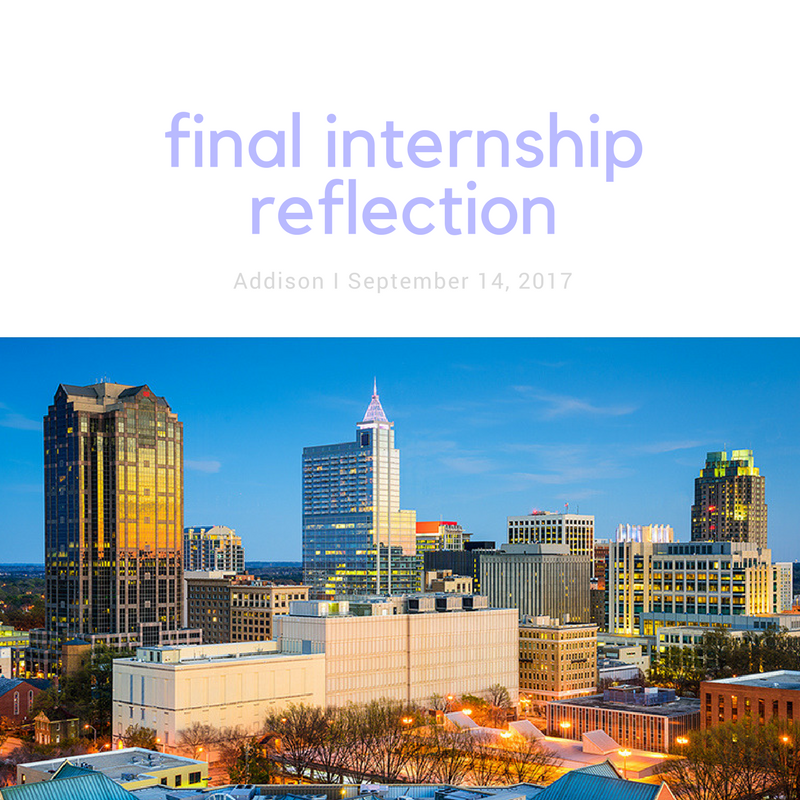 final internship reflection